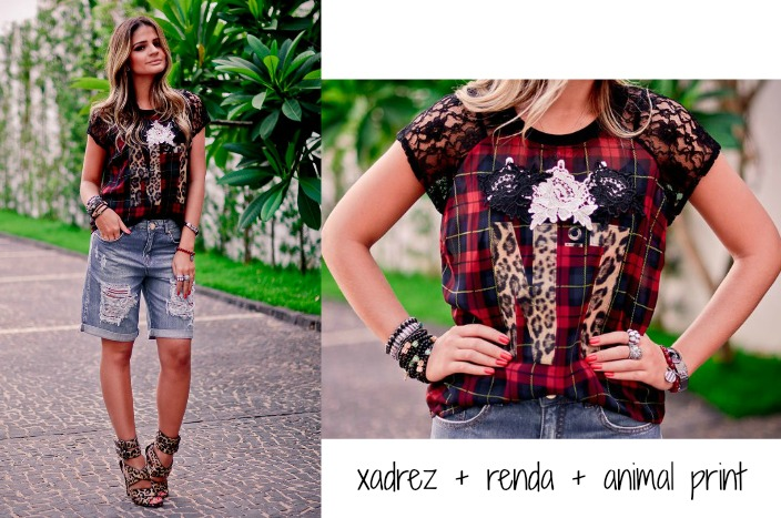look-xadrez-renda-animal-print