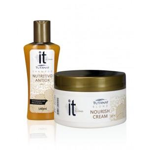Kit manutenção para cabelos loiros @it Tutanat 390ml