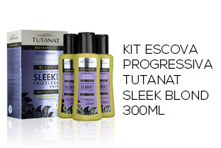 Kit Escova Progressiva Tutanat Sleek Blond 300ml