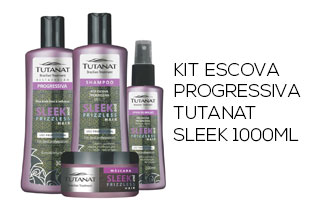 Kit Escova Progressiva Tutanat Sleek 1000ml